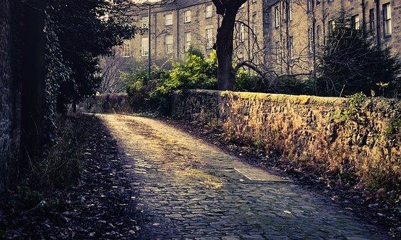 Scotland, Cobblestones, Alley, Old, Architecture