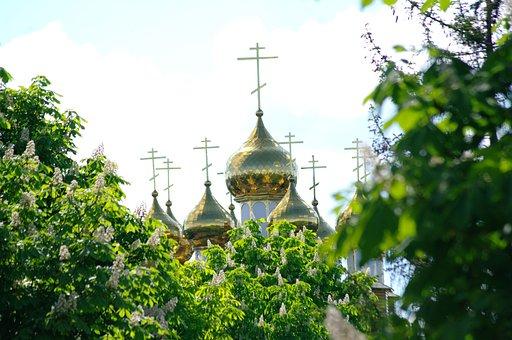 Temple, Church, Dome, Orthodoxy, Religion, Russia