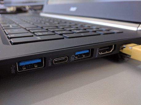 Technology, Computer, Connection, Plug, Data, Line