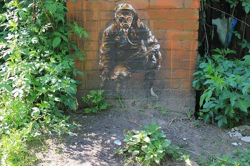 Graffiti, Mural, Street Art, Art, Sprayer, Wall, Person