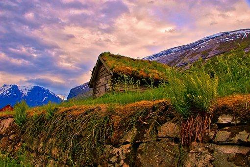 Cottage, Mountains, Nature, Landscape, Top View