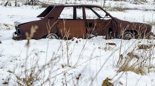 Old Car, History, Rust, Live, Winter, Photography, Life