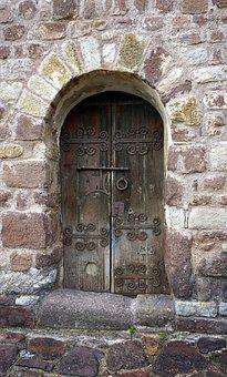 Door, Old, Lock, Aldaba, Portal, Gate, Monastery