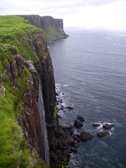 Scotland, Sea, Cliff