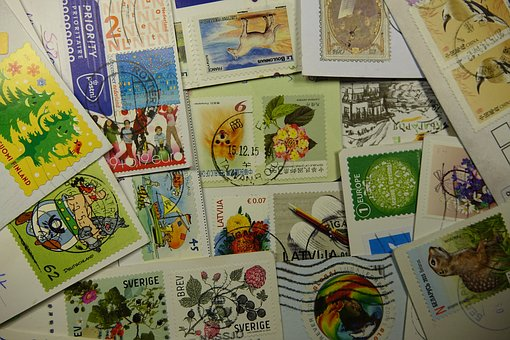 Postage Stamps, Collect, Stamped, Leave, Postcard