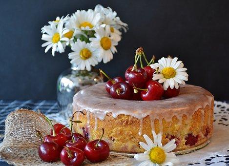 Cherry Pie, Cake, Cherries, Bake, Kitchen, Flour, Sugar