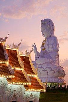 Thailand, Wat Huay Pla Kung, Chiang Rai, Temple, Buddha