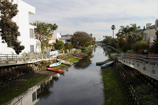 Los Angeles, Canal, Water, Lifestyle, Walkway, Boat