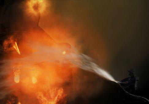 Fire, Delete, Brand, Risk, Heat, Flame, Fire Fighter