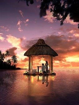 Grass Pavilion, Lake, Wedding
