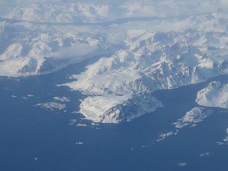 Greenland, Eternal Ice, Polar Region, Aerial View