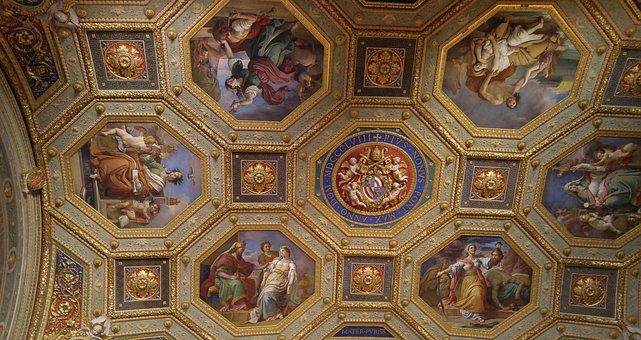 Rome, Vatican, Museum, Ceiling