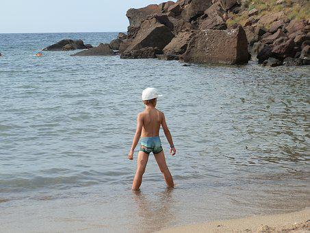 Sea, Baby Boss, Sardinia, Beach