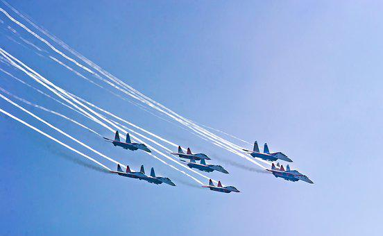 Sky, Airshow, Aircraft, Performance