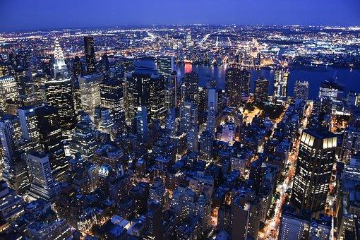 Manhattan, Usa, Skyline, Ny, City, Big City, Skyscraper