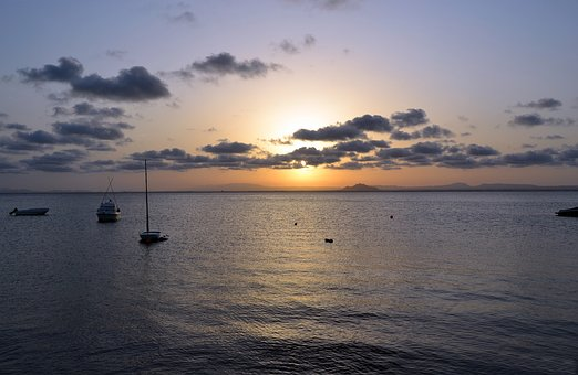Sunset, Sleeve, Lower Mar, Sun, Sky, Spain, Beach, Sea