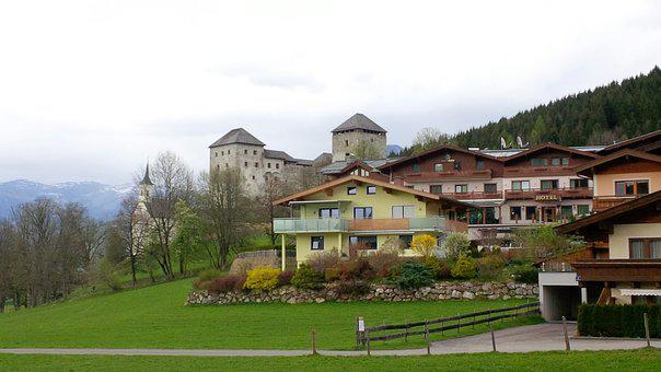 Village, The Valley Of The, Castle, View Of The Hills
