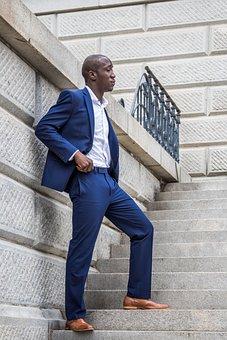 Man, Steps, Building, Business, Male, Businessman