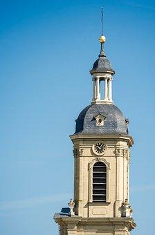 Church, Steeple, Architecture, Close, Clock, Great
