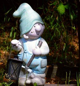 Garden Gnome, Cap, Figure, Funny, Sweet