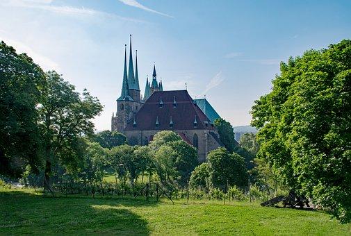 Erfurt Cathedral, Erfurt, Thuringia Germany, Germany