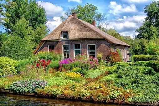 Farm, Giethoorn, House, Cottage, Village, Romance