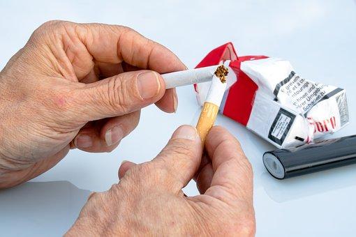 Non Smoking, Cigarette, Hands