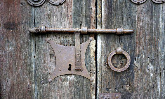 Door, Old, Nail, Wood, Aldaba, Lock, Medieval, Portal