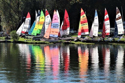 Sailing, Sailing Boats, Colorful Sailing, Sail, Water
