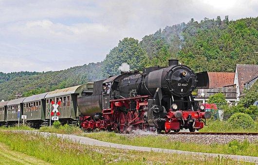 Steam Locomotive, Museum Train, Event