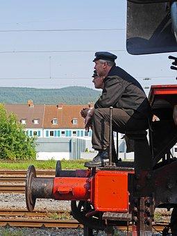 Steam Locomotive, Train Driver, Stoker, Work Break