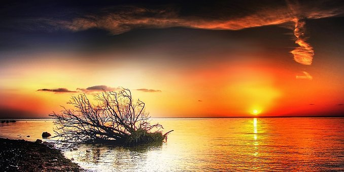Món, Sun, Sunny, Nature, Blue, Lake, Hell, Summer, Bank