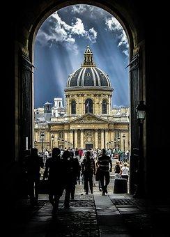 France, Paris, Storm, Tunnel, Dark, Ray, Sun, Sunlight