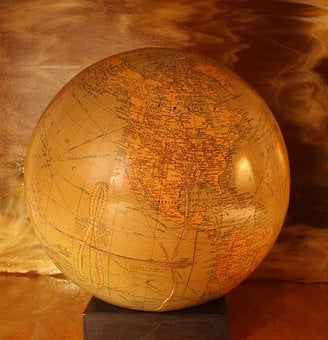 Globe, World, Antique, Map, Earth, Planet, Sphere