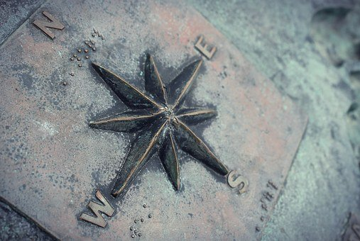 Compass, Navigation, Rusted, Navigate, Direction
