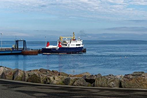 Ferry, Ferry Port, Loth, Orkney, Sanday, Port, Sea