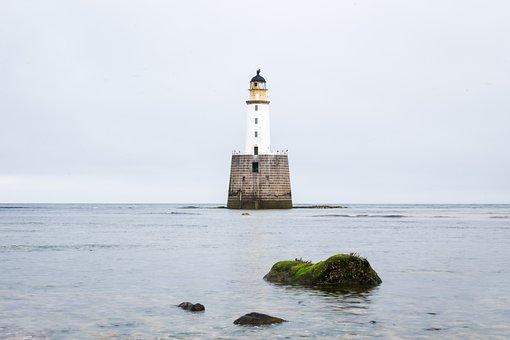 Lighthouse, Scotland, Sea, Coast, Uk, Outdoor