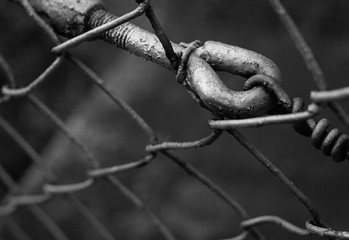 Hook, Wire, Black And White, Fence, Metal, Atmosphere