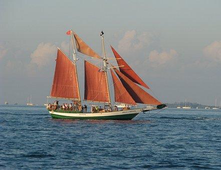 Schooner, Ocean, Sea, Boat, Sailboat, Nautical, Ship
