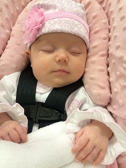 Car Seat, Baby, Asleep, Dreaming, Safe, Safety