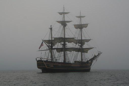 Schooner, Vintage, Sailing, Sail, Ship, Boat, Sea