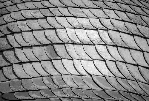 Texture, Roof, Architecture, Black White, Background