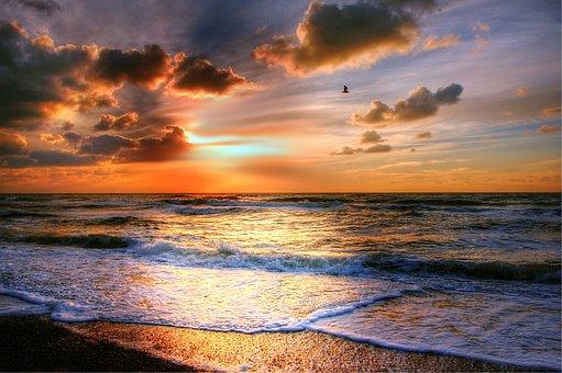 Sun, Beach, Sea, Sunset, Romance, Twilight, Summer