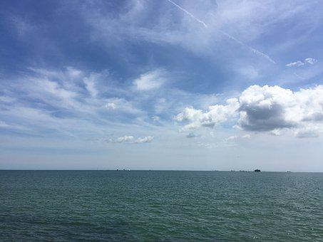 Sea, Sky, Summer, Clouds, Ocean, Nature, Travel, Blue