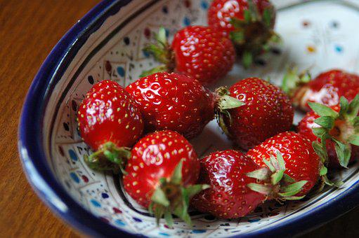 Red, Strawberry, Bowl