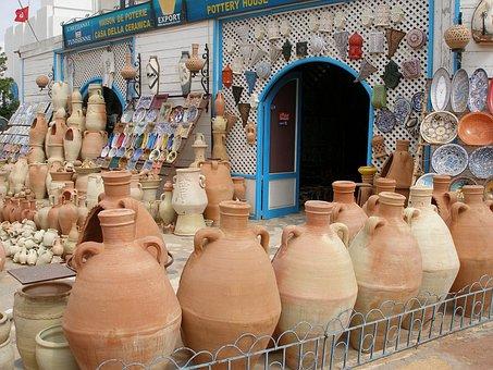 Pottery, Ceramic, Crafts, Container, Potter, Tunisia