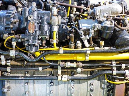 Engines, Aircraft, Engine, Jet Engine, Detail, Parts
