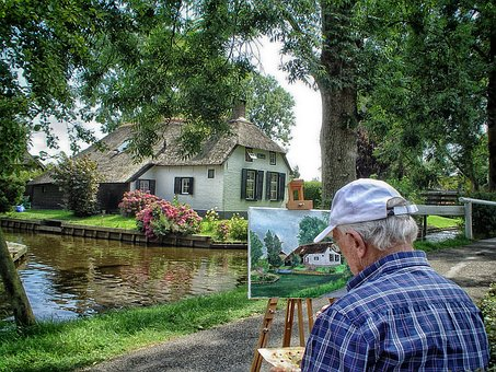 Giethoorn, Farm, House, Cottage, Village, Holland