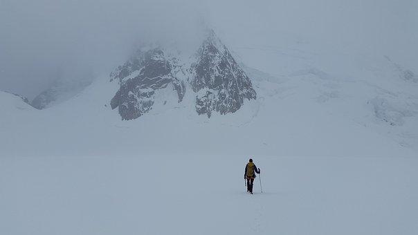 High-altitude Mountain Tour, High Mountains, Glacier