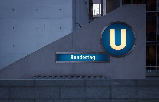 Metro, Bundestag, Berlin, Railway Station